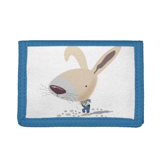 Little Bunny In Blue Pants Is Writing Nylon Wallet