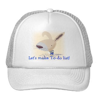 Little Bunny In Blue Pants To-do list Hat