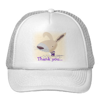 Little Bunny In Purple Pants Thank you... Hat
