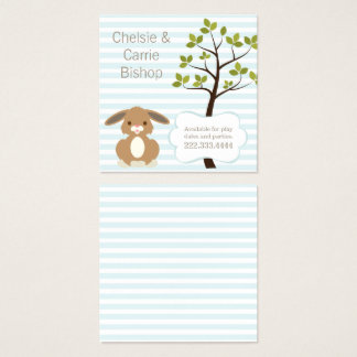 Little Bunny Square Play Date Card