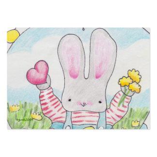 little bunny valentine business card
