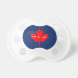 Little Canadian Canada red maple leaf baby soother