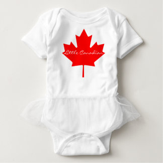 Little Canadian red maple leaf Canada tutu Baby Bodysuit