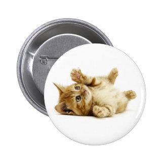 LITTLE CAT 6 CM ROUND BADGE