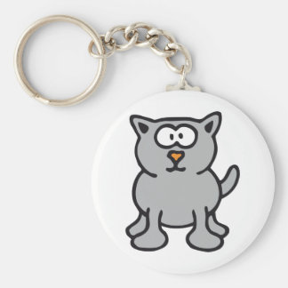Little Cat Basic Round Button Key Ring