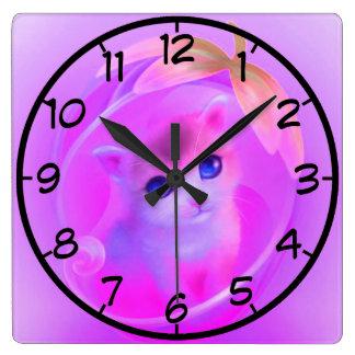 little cat clock