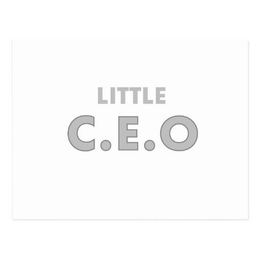 Little CEO Tshirts and Gifts Postcards