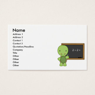 little chalkboard turtle business card