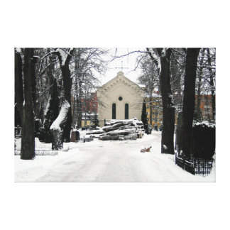 Little Chapel in the Snow (Horiz) Gallery Wrap Canvas