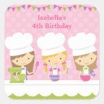 Little Chef Baking Birthday Party Stickers Sticker
