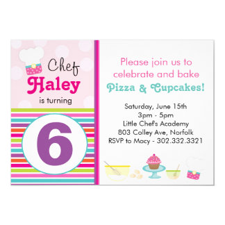 Little Chef's Baking Party Invitation
