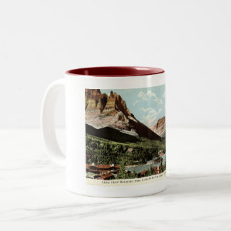 Little Chief Mountain, Glacier National Park, MT Two-Tone Coffee Mug