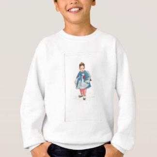 Little Chinese Girl Holding Umbrella Sweatshirt