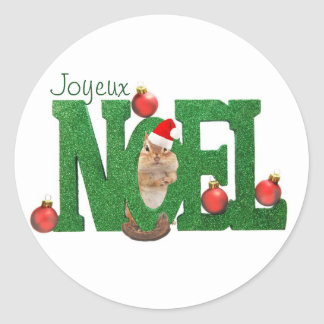 Little Chipmunk Joyeux Noel Sticker