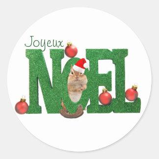 Little Chipmunk Joyeux Noel Sticker