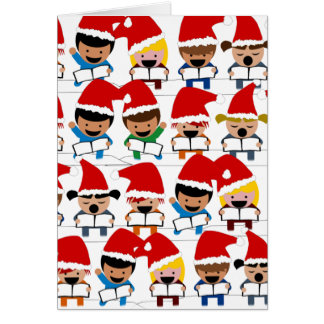 Little Christmas Carolers Greeting Card