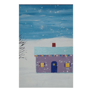 Little Christmas House Customized Stationery