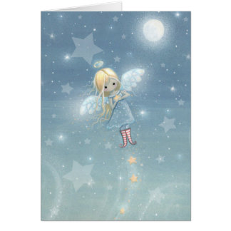 Little Christmas Star Angel Card