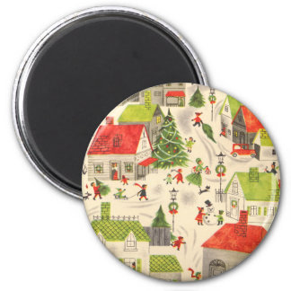 Little Christmas Village Magnets