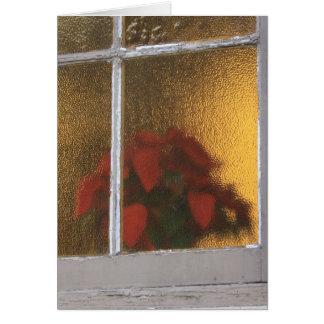 Little Church Of La Villita Window At Christmas Card