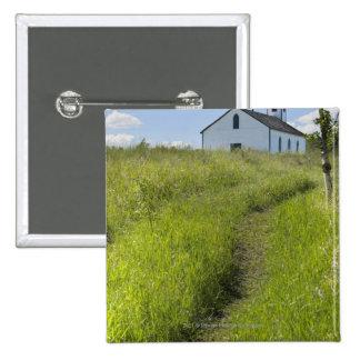 Little Church On The Canadian Prairies 15 Cm Square Badge