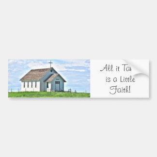 Little Church on the Prairie Bumper Sticker