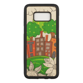 Little City Landscape Carved Samsung Galaxy S8 Case