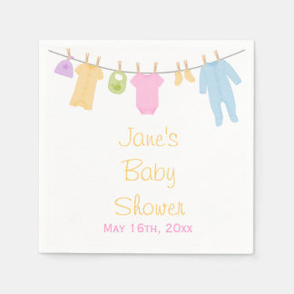 Little Clothes Baby Shower Napkins Disposable Serviette