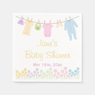 Little Clothes Baby Shower Napkins Paper Napkin