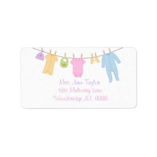 Little Clothes Baby Shower Return Address Labels