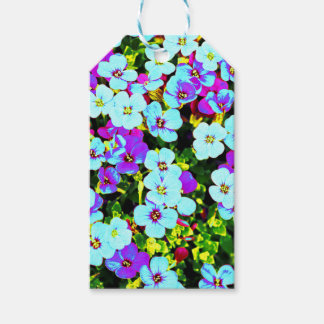 Little Colorful Flowers Gift Tags