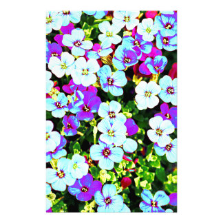 Little Colorful Flowers Stationery