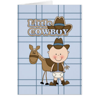 Little Cowboy Card BabyShower, New Baby, Congrats