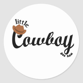 little cowboy yeehaw stickers
