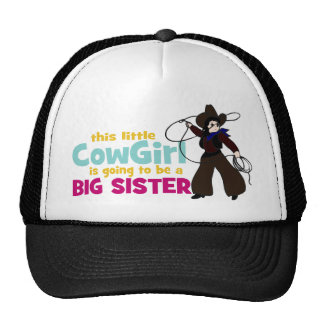 Little Cowgirl, Big Sister Trucker Hats