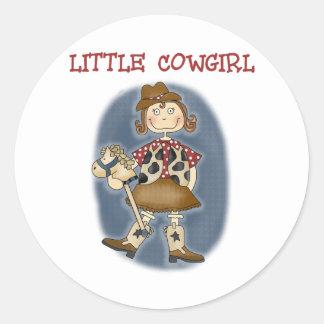 Little Cowgirl Classic Round Sticker