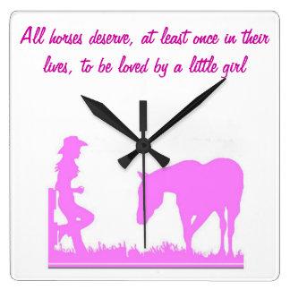 Little cowgirl clock
