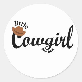 little cowgirl yeehaw sticker