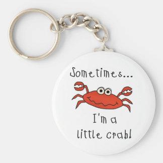 Little Crab Basic Round Button Key Ring