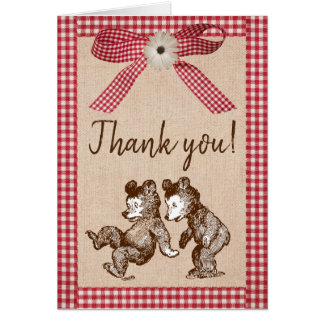 Little Cubs Twin Gender Neutral Thank You Card