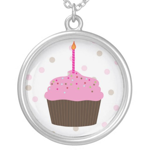 Little Cupcake 1st Birthday Necklace Party Favor