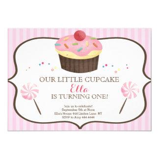 Little Cupcake First Birthday Candy land 13 Cm X 18 Cm Invitation Card