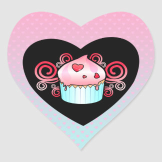 """LIttle Cupcake"" Heart Sticker"