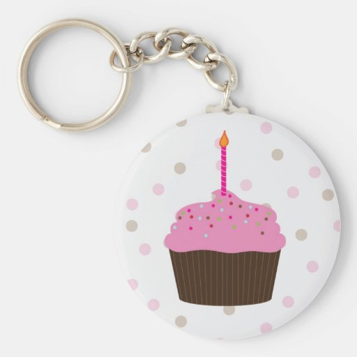 Little Cupcake Keychain Party Favor