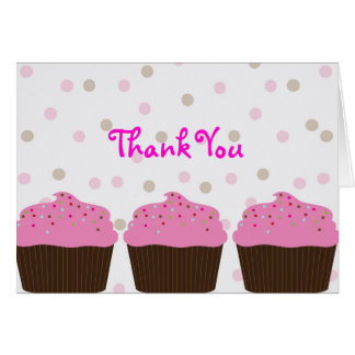Little Cupcake Thank You Note Card