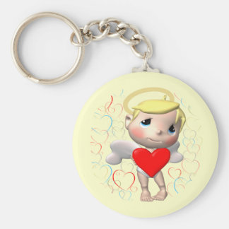 Little Cupid T-shirts and Gifts Basic Round Button Key Ring