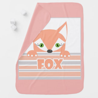 Little curious Fox . Baby Blanket