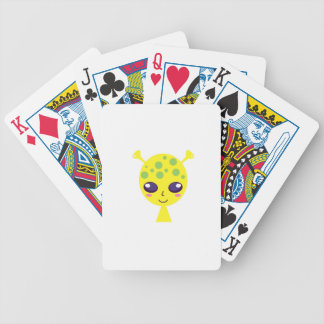 Little cute alien Green edition Bicycle Playing Cards