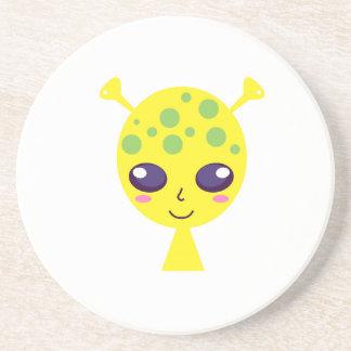 Little cute alien Green edition Coaster