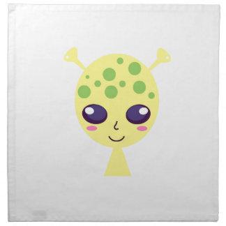 Little cute alien Green edition Napkin